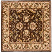 Safavieh Handmade Heritage Timeless Traditional Brown/ Ivory Wool Rug - 8' x 8' Square