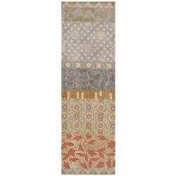 Safavieh Handmade Rodeo Drive Bohemian Collage Multicolored Wool Runner (2'6 x 10')