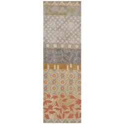 Safavieh Handmade Rodeo Drive Bohemian Collage Multicolored Wool Runner (2'6 x 12')
