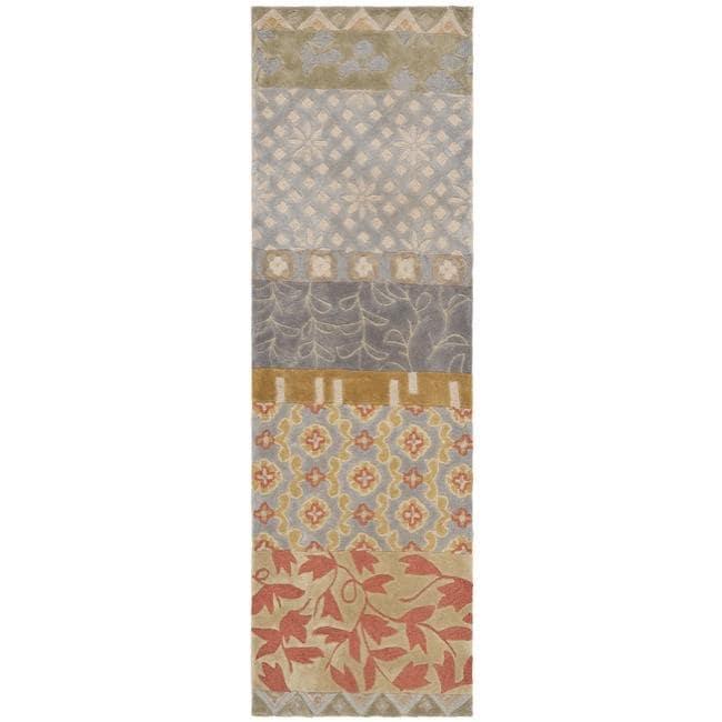 Safavieh Handmade Rodeo Drive Bohemian Collage Multicolored Wool Runner - Multi - 2'6 x 14'