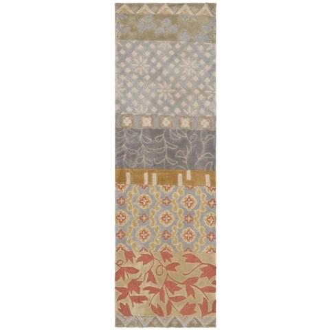 "Safavieh Handmade Rodeo Drive Bohemian Collage Multicolored Wool Runner - Multi - 2'6"" x 14'"