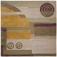 Safavieh Handmade Rodeo Drive Modern Abstract Beige Wool Rug - 8' x 8' Square