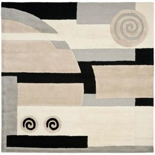 Safavieh Handmade Rodeo Drive Ralda Mid-Century Modern Abstract Wool Rug (6 x 6 Square - Assorted)