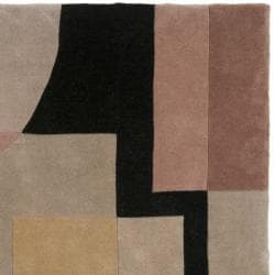 Safavieh Handmade Rodeo Drive Modern Abstract Olive/ Black Wool Rug (6' Square)