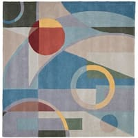 Safavieh Handmade Rodeo Drive Modern Abstract Blue/ Multi Wool Rug - 6' x 6' Square
