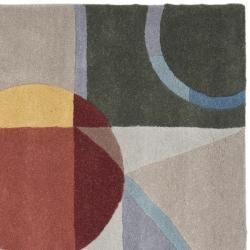 Safavieh Handmade Rodeo Drive Modern Abstract Blue/ Multi Wool Rug (8' Square) - Thumbnail 1