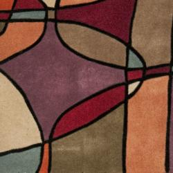 Safavieh Handmade Rodeo Drive Modern Abstract Multicolored Wool Runner (2'6 x 8') - Thumbnail 1