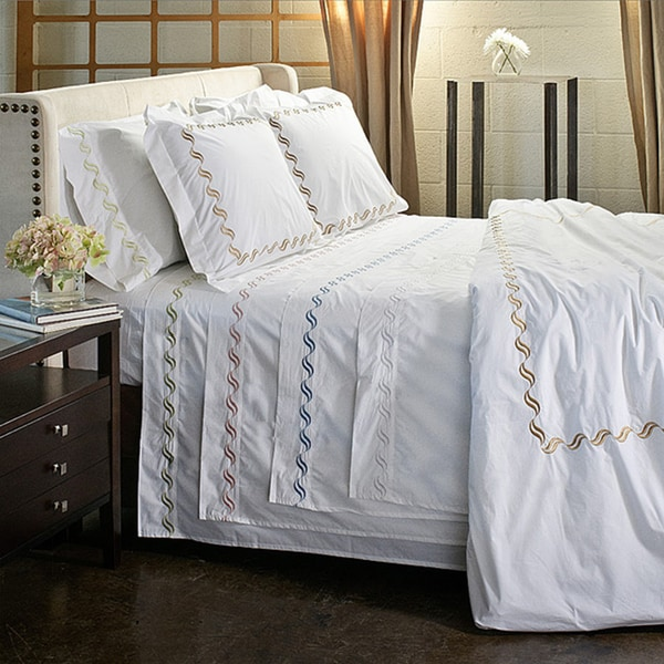 Shop Scroll Embroidery 300 Thread Count Cotton 3 Piece