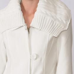 Ci Sono by Adi Junior's Knit Collar Wool Blend Coat