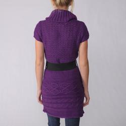 Ci Sono by Adi Juniors Short-sleeve Cable Sweater Tunic - Thumbnail 1