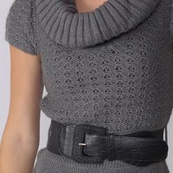 Ci Sono by Adi Juniors Short-sleeve Cable Sweater Tunic - Thumbnail 2