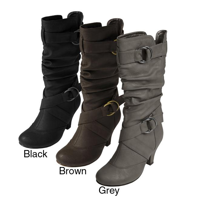 Journee Collection Women's 'Cynthia' Ring-accented Slouchy Boots