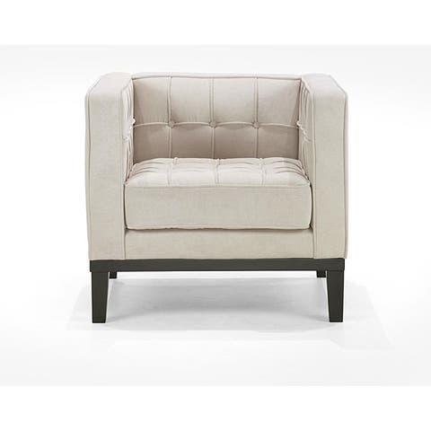 Retro Cream Chenille Chair