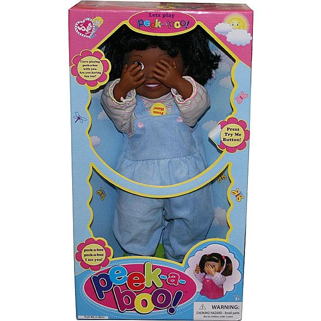 Peek-a-boo Blue 17-inch Baby Doll