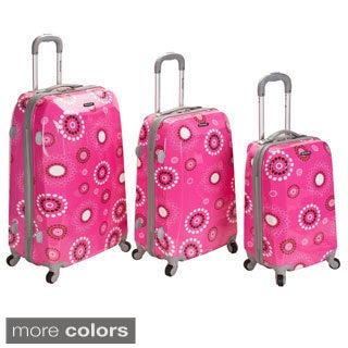 Rockland Vision Pearl Circles Light Weight 3-piece Hardside Spinner Luggage Set