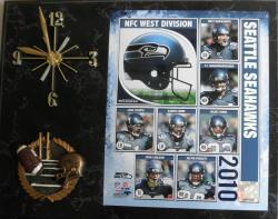 Seattle Seahawks 2010 Collectible Photo Clock - Thumbnail 2