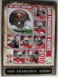 Licensed San Francisco 49ers Wood-grain-board Engraved Photo Plaque - Thumbnail 2