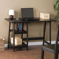 Harper Blvd A-frame Black Hardwood Desk