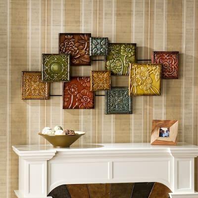 SEI Furniture Mozaic Floral Wall Sculpture