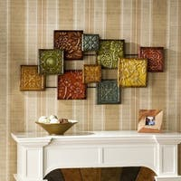Harper Blvd Mozaic Multi Hand-painted Metal Floral Wall Sculpture