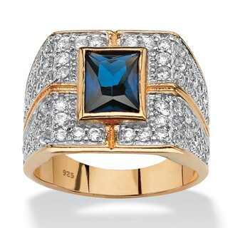 Men's 4.06 TCW Emerald-Cut Midnight Blue Sapphire Ring in 18k Gold over Sterling Silver|https://ak1.ostkcdn.com/images/products/5296872/P13108163.jpg?_ostk_perf_=percv&impolicy=medium