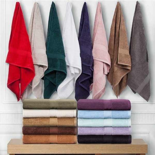 Superior Collection Luxurious 900 GSM 100-percent Premium Long-staple Combed Cotton 6-piece Towel Set