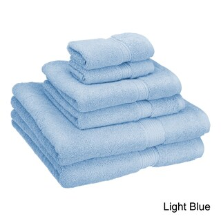 Superior Luxurious Absorbent 900 GSM Combed Cotton 6-piece Towel Set (3 options available)