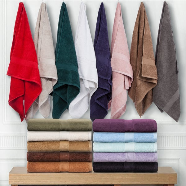 Superior Luxurious & Absorbent 900 GSM Combed Cotton 6-piece Towel Set