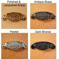 Solid Brass Vintage Newcastle Bin Pulls (Pack of 4)