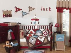 Sweet Jojo Designs All Star Sports 9-piece Crib Bedding Set - Thumbnail 1