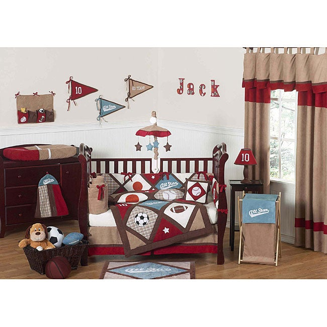 Sweet Jojo Designs All Star Sports 9-piece Crib Bedding Set - Multi