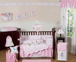 Sweet Jojo Designs Little Ballerina 9-piece Crib Bedding Set - Thumbnail 1