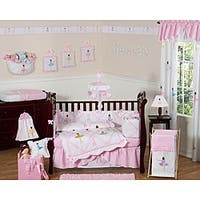 Sweet Jojo Designs Little Ballerina 9-piece Crib Bedding Set