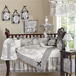 Sweet Jojo Designs French Toile 9-piece Crib Bedding Set|https://ak1.ostkcdn.com/images/products/5298428/French-Toile-9-piece-Crib-Bedding-Set-P13109428.jpg?impolicy=medium