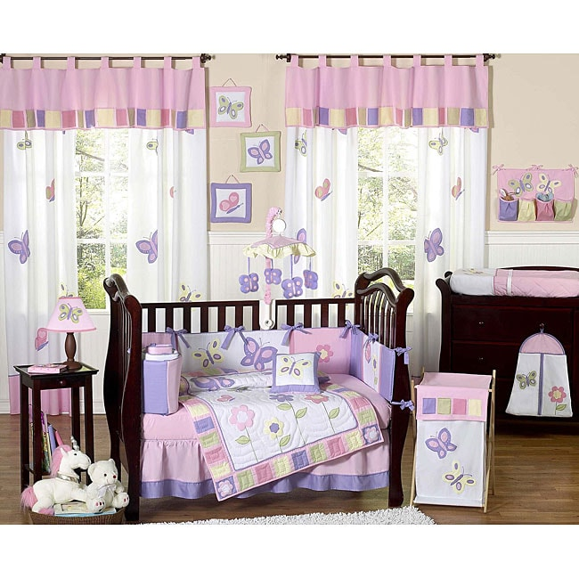 Sweet Jojo Designs Butterfly 9 Piece Crib Bedding Set