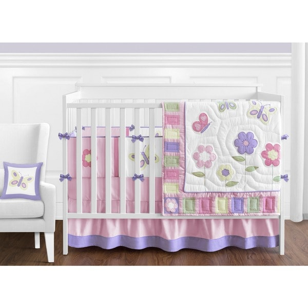 17 Adorable Ways To Decorate Above A Baby Crib: Shop Sweet Jojo Designs Butterfly 9-piece Crib Bedding Set