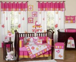 Sweet Jojo Designs Butterfly 9-piece Crib Bedding Set - Thumbnail 2