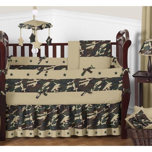Shop Sweet Jojo Designs Green Camo 9 Piece Crib Bedding