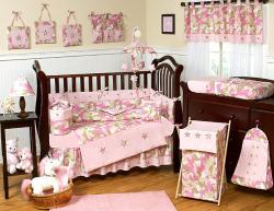 Sweet Jojo Designs Pink Camo 9-piece Crib Bedding Set - Thumbnail 1