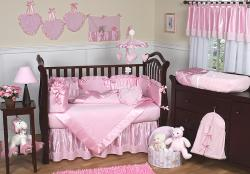 Sweet Jojo Designs Pink Chenille 9-piece Crib Bedding Set - Thumbnail 1