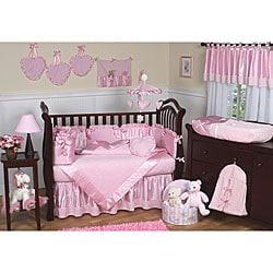 Sweet Jojo Designs Pink Chenille 9-piece Crib Bedding Set