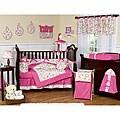 Sweet Jojo Designs Pink and Green Circles 9-piece Crib Bedding Set