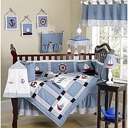 Sweet Jojo Designs Come Sail Away 9-piece Crib Bedding Set