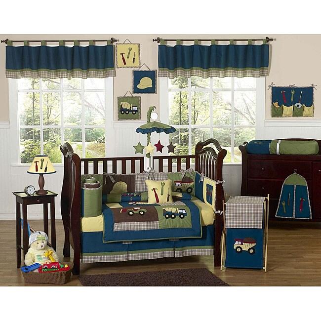 Sweet Jojo Designs Construction 9 Piece Crib Bedding Set
