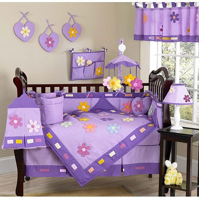 Sweet Jojo Designs Daisies 9-piece Crib Bedding Set