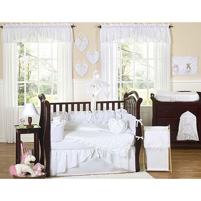Shop Sweet Jojo Designs White Eyelet 9 Piece Crib Bedding