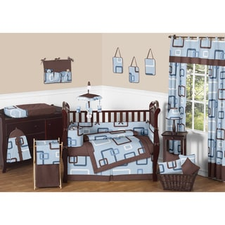 Sweet Jojo Designs Geo Blue 9-piece Crib Bedding Set