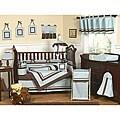 Sweet Jojo Designs Brown and Blue 9-piece Crib Bedding Set
