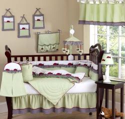 Sweet Jojo Designs Ladybug Parade 9-piece Crib Bedding Set