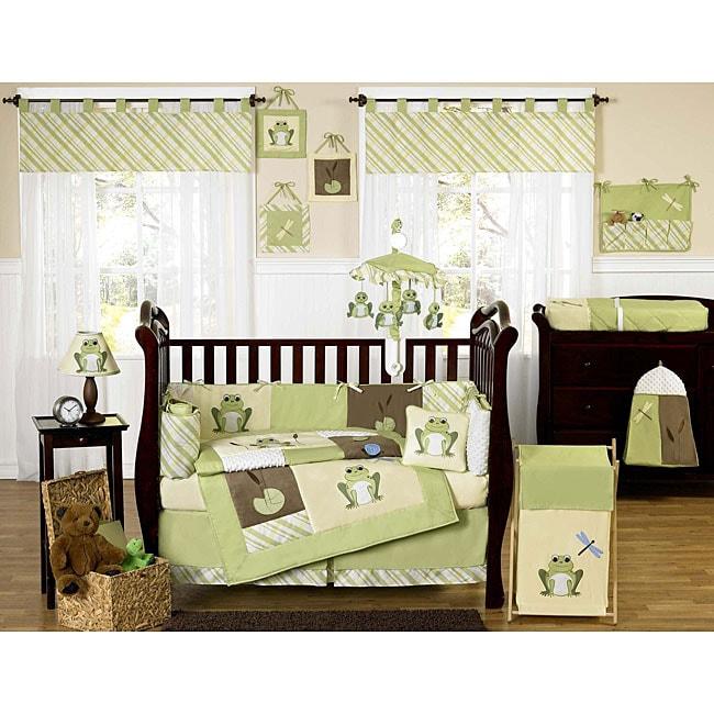 Sweet Jojo Designs Leap Frog 9-piece Crib Bedding Set